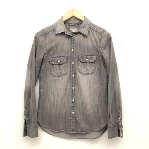 Merona Denim Shirt in Stoned Gray EUC XS